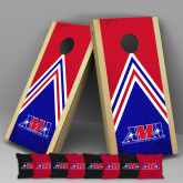 Complete Cornhole Game Set-Official Logo, black and red bags with logo 1B