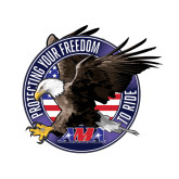 Small Decal-AMA Freedom Rider, 6in Wide
