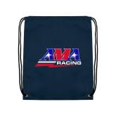 Navy Drawstring Backpack-AMA Racing