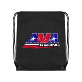 Black Drawstring Backpack-AMA Racing