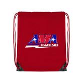 Red Drawstring Backpack-AMA Racing