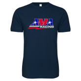 Next Level SoftStyle Navy T Shirt-AMA Racing