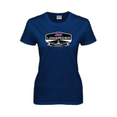 Ladies Navy T Shirt-AMA LongRider