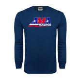 Navy Long Sleeve T Shirt-AMA Racing