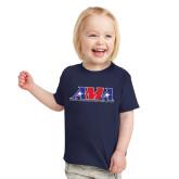 Toddler Navy T Shirt-Official Logo