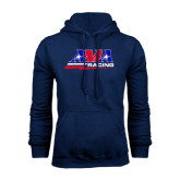 Navy Fleece Hood-AMA Racing