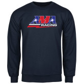 Navy Fleece Crew-AMA Racing