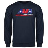 Navy Fleece Crew-AMA Racing