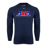 Under Armour Navy Long Sleeve Tech Tee-Official Logo