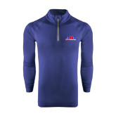 Under Armour Navy Tech 1/4 Zip Performance Shirt-AMA Racing