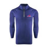 Under Armour Navy Tech 1/4 Zip Performance Shirt-AMA Racing