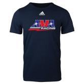 Adidas Navy Logo T Shirt-AMA Racing
