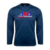 Syntrel Performance Navy Longsleeve Shirt-AMA Racing