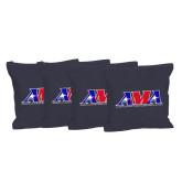 Navy Cornhole Bags, Set of 4-Official Logo