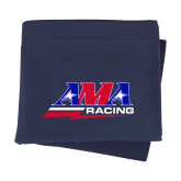 Navy Sweatshirt Blanket-AMA Racing