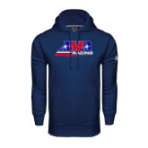 Under Armour Navy Performance Sweats Team Hood-AMA Racing