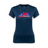 Ladies Syntrel Performance Navy Tee-AMA Racing