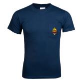 Navy T Shirt w/Pocket-Charter Life Member