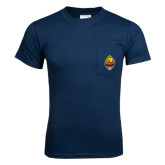 Navy T Shirt w/Pocket-Life Member