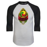White/Black Raglan Baseball T-Shirt-Charter Life Member