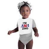 White Baby Bib-AMA Zing