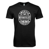 Next Level SoftStyle Black T Shirt-Retro 1924 in Oval Design