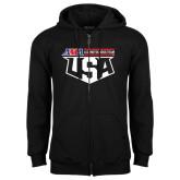 Black Fleece Full Zip Hoodie-US Motorcross Team