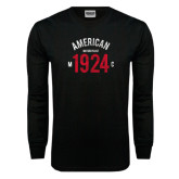 Black Long Sleeve TShirt-Arched American MC 1924