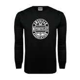 Black Long Sleeve TShirt-Retro 1924 in Oval Design