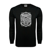 Black Long Sleeve TShirt-Retro Freedom to Ride