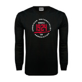 Black Long Sleeve TShirt-1924 in Circle