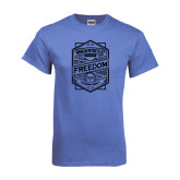 Arctic Blue T Shirt-Retro Freedom to Ride