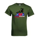 Military Green T Shirt-AMA Flat Track Racing