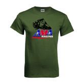 Military Green T Shirt-AMA RoadRacing