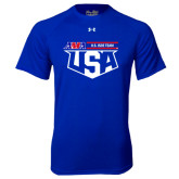 Under Armour Royal Tech Tee-AMA US ISDE Team