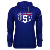 Adidas Climawarm Royal Team Issue Hoodie-AMA US Trial Des Nations Team