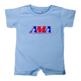 Light Blue Infant Romper-Official Logo