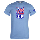 Light Blue T Shirt-2017 US ISDE Team