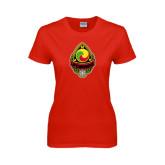 Ladies Red T Shirt-Life Member