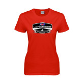 Ladies Red T Shirt-AMA LongRider