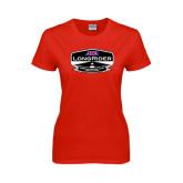 Ladies Red T Shirt-AMA LongRider