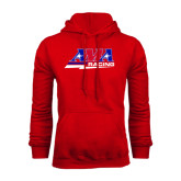 Red Fleece Hood-AMA Racing
