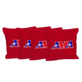 Red Cornhole Bags, Set of 4-Official Logo