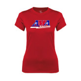 Ladies Syntrel Performance Red Tee-AMA Racing
