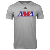 Adidas Climalite Sport Grey Ultimate Performance Tee-Official Logo