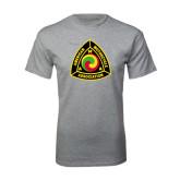 Grey T Shirt-AMA Vintage Logo 2