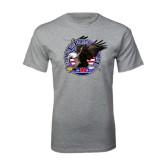 Grey T Shirt-AMA Freedom Rider