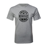 Grey T Shirt-Retro 1924 in Oval Design