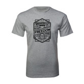 Grey T Shirt-Retro Freedom to Ride
