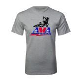 Grey T Shirt-AMA Flat Track Racing